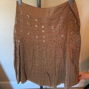 NWOT Kenzie Embellished Beaded Skirt Brown sz 2❤️